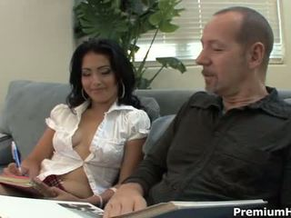 Young Pervert Andrea Kelly Taking Hardcore Lesson With Her