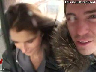 I came on her boobs in public solarium Video